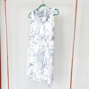 Vanessa Zani Cowl Neck Sheer Dress